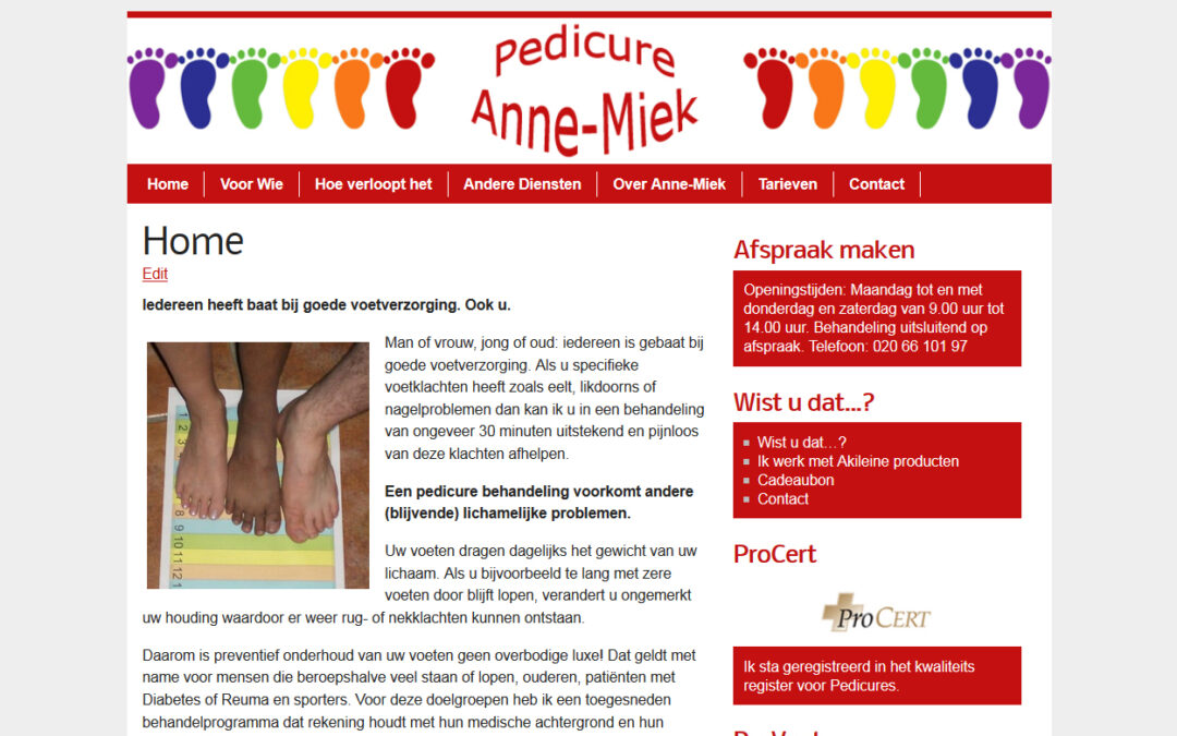 Pedicure Annemiek